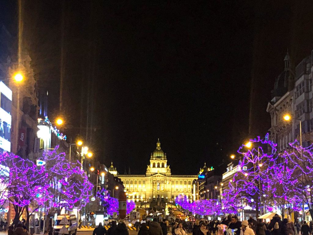 Wenceslas Square Christmas Markets National Museum Prague