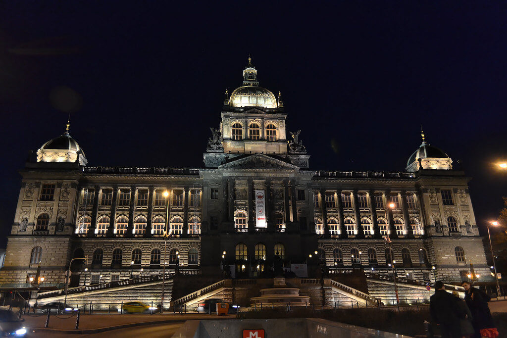 National-museum-building-at-night